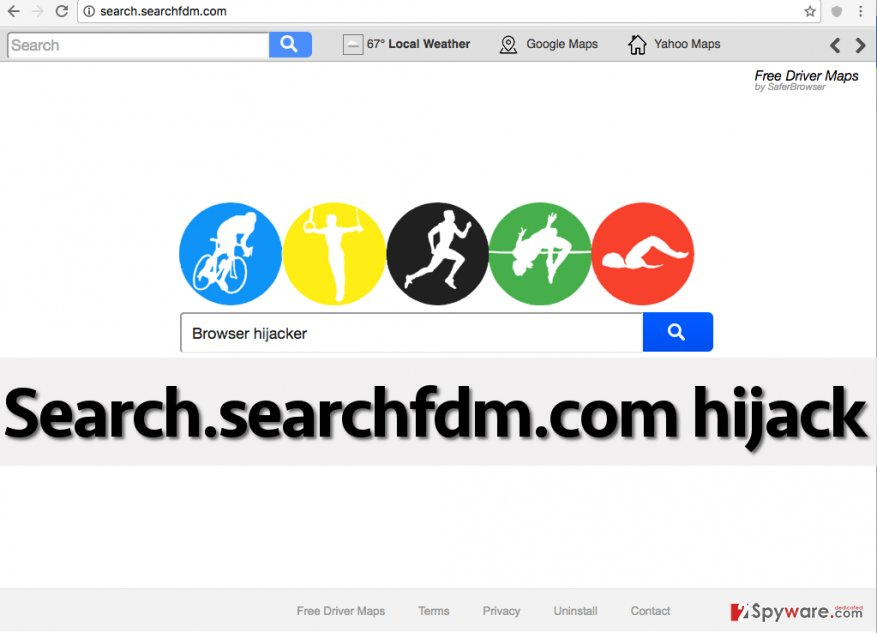 Search.searchfdm.com redirect virus in Chrome