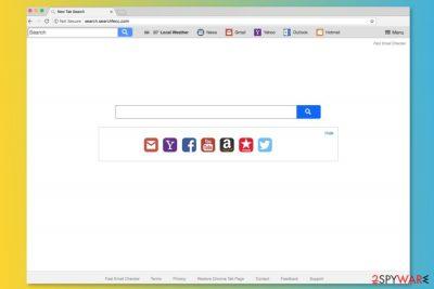 Screnshot of Search.searchfecc.com search engine