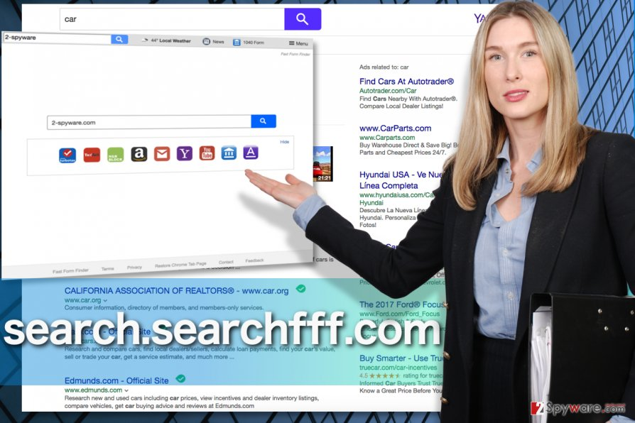 A screenshot example of the Search.searchfff.com browser hijacker