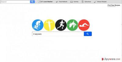 A screenshot of the Search.searchffr.com virus