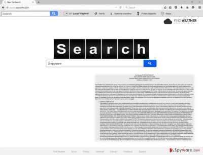 The picture of Search.searchfw.com virus