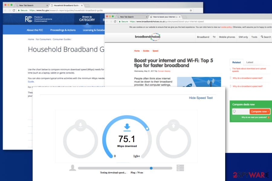 Search.searchgetstt.com speed test feature