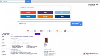 A screenshot of the search.searchlen.com browser hijacker website
