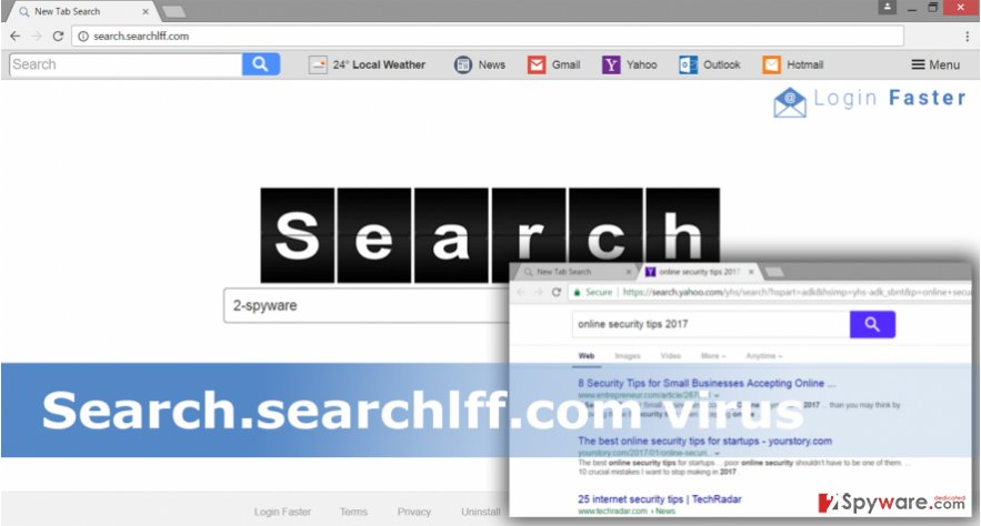 The example of Search.searchlff.com virus