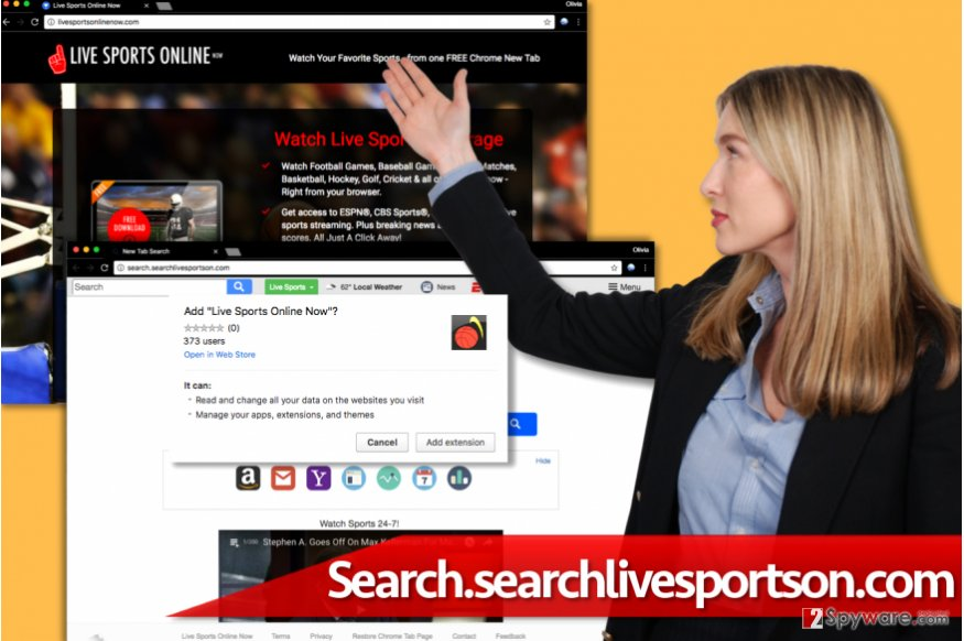 Search.searchlivesportson.com hijack