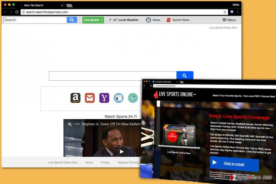 Search.searchlivesportson.com virus