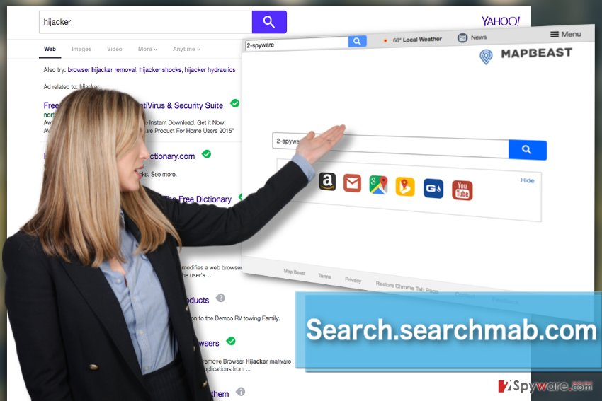 The picture showing Search.searchmab.com virus