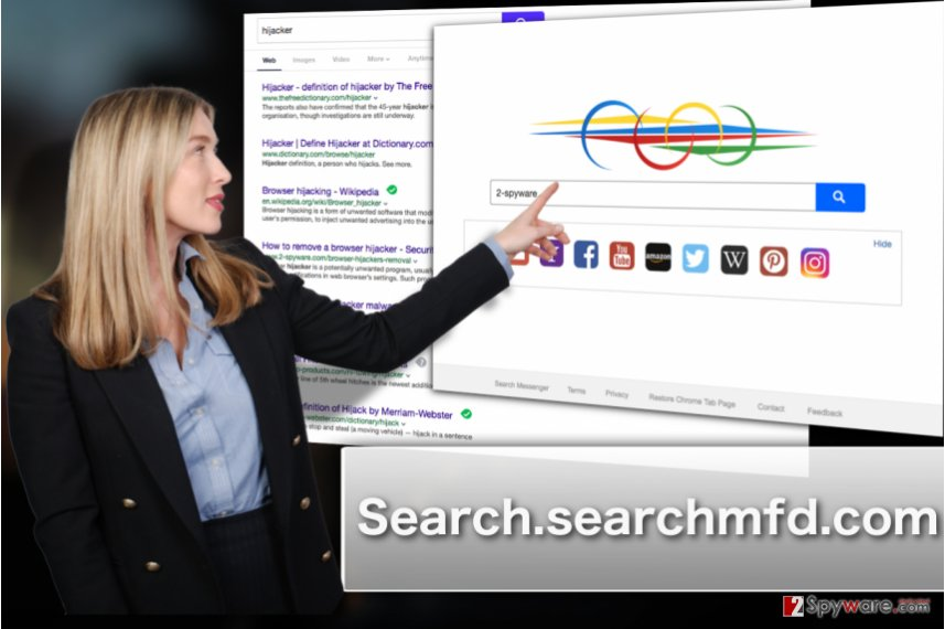 Image illustrating Search.searchmfd.com hijacker attack