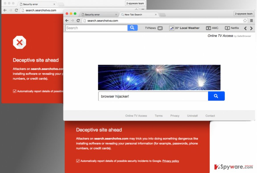Search.searchotva.com hijacker