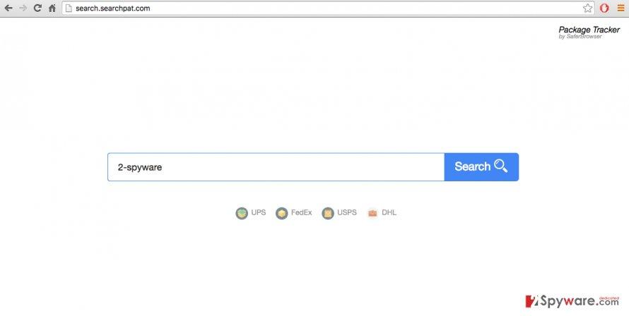 A screenshot of the search.searchpat.com virus