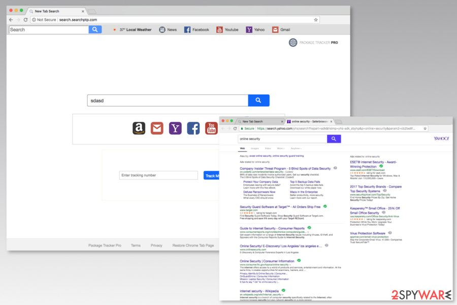 Screenshot of Search.searchptp.com search engine