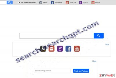 The image displaying i Search.searchqpt.com homepage