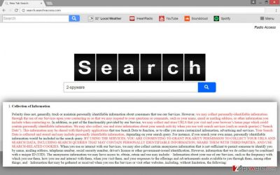 The example of Search.searchraccess.com virus