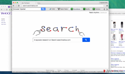 Search.searchradioa.com hijacker screenshot