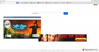 The picture showing search.searchsmg.com virus