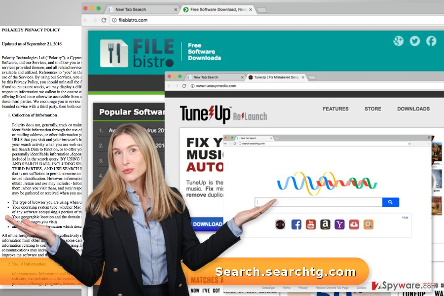 The image of Search.searchtg.com virus