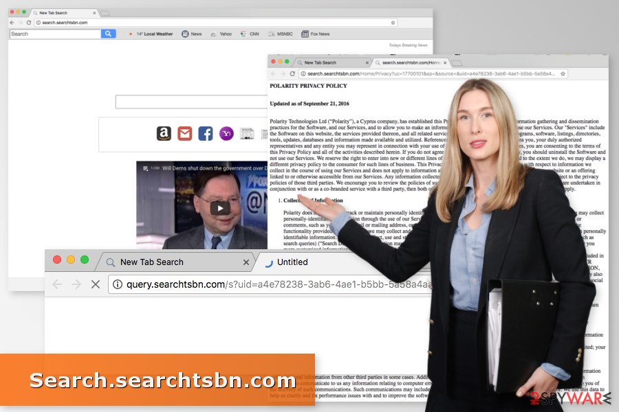 The picture of Search.searchtsbn.com virus