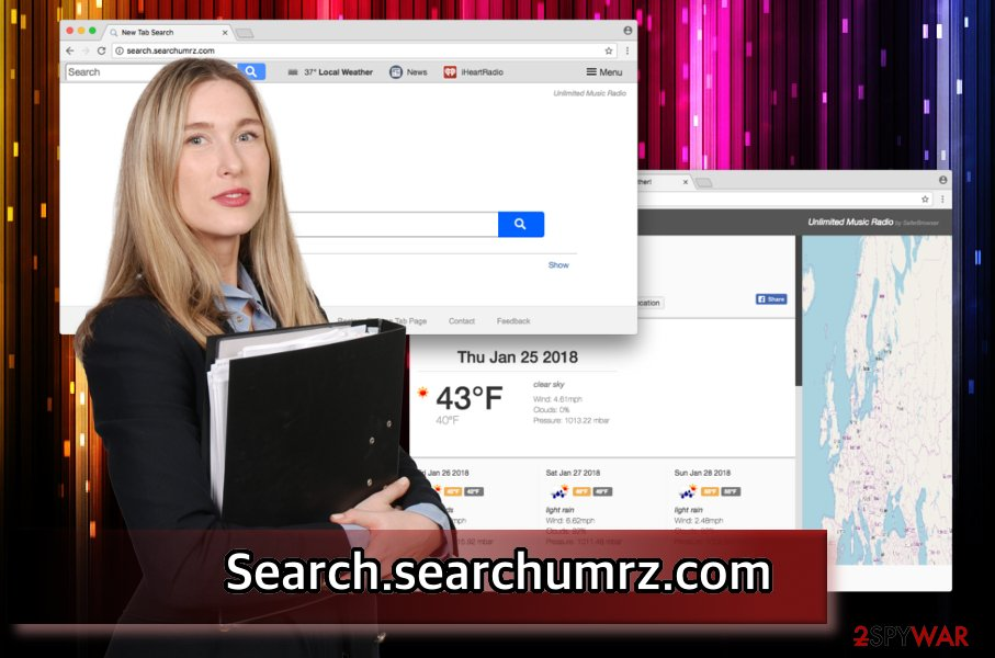 The illustration of Search.searchumrz.com virus