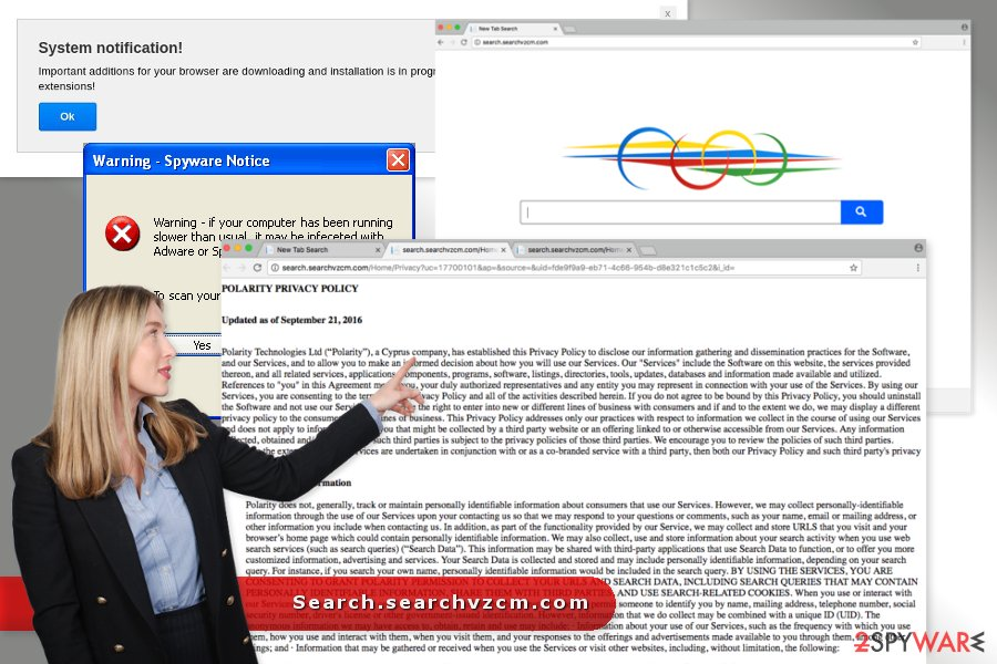 The image of Search.searchvzcm.com virus
