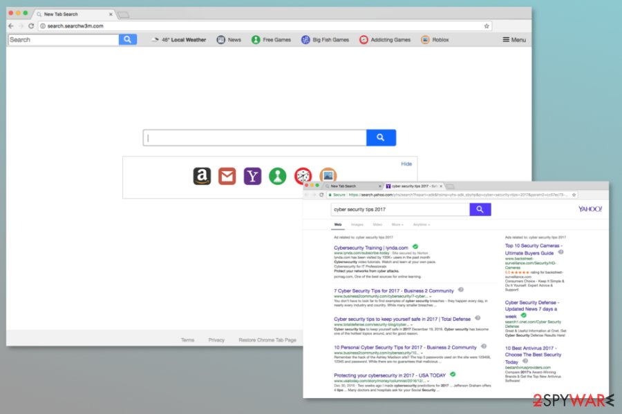 Screenshot of Search.searchw3m.com