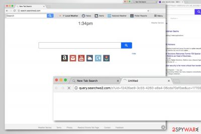 Search.searchws2.com search engine screenshot