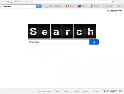 An image of the Search.searchyea.com browser hijacker website