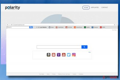 A picture of Search.searchyrs.com hijacker