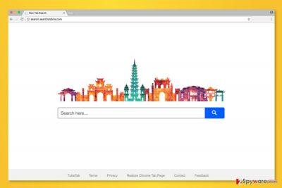 The screenshot of Search.searchytdvta.com