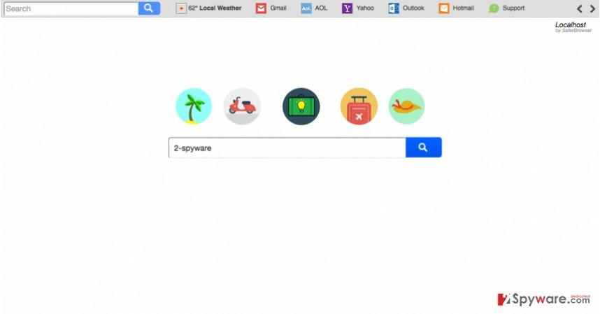 A screenshot of the Search.sh-cmf.com virus