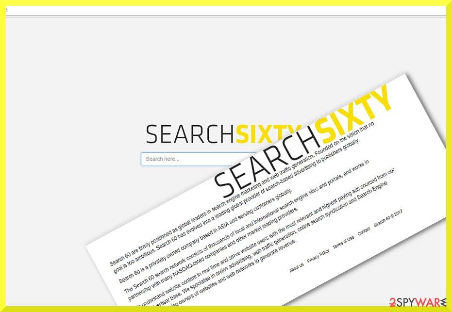 The screenshot of Search60.com hijacker