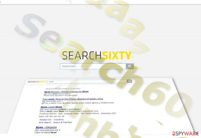 The sample of Search60 home tab