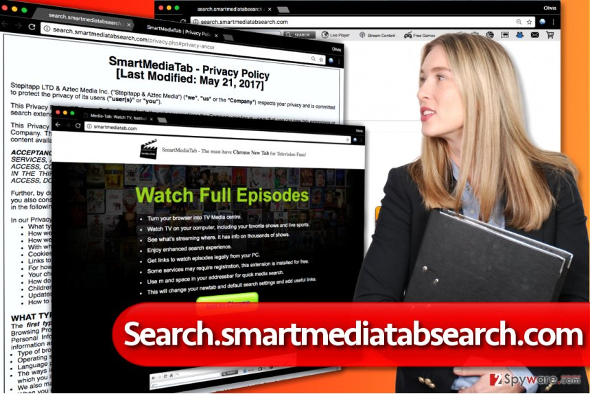 Search.smartmediatabsearch.com redirect virus