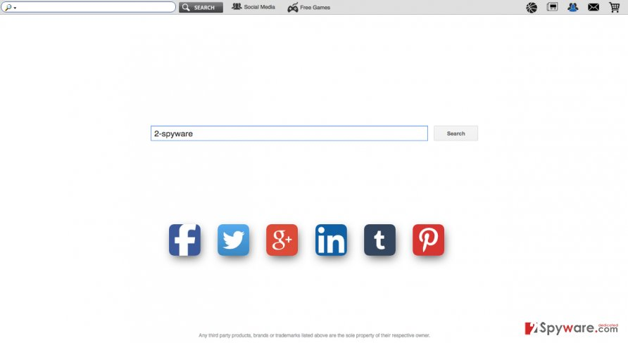 The screenshot of earch.socialnewpageplussearch.com hijacker website