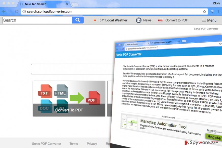 Search.sonicpdfconverter.com virus