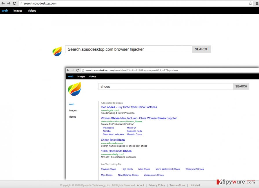 Search.sosodesktop.com search engine is associated with Search.sosodesktop.com browser hijacker