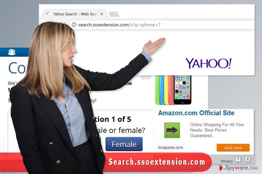 The image of Search.ssoextension.com virus