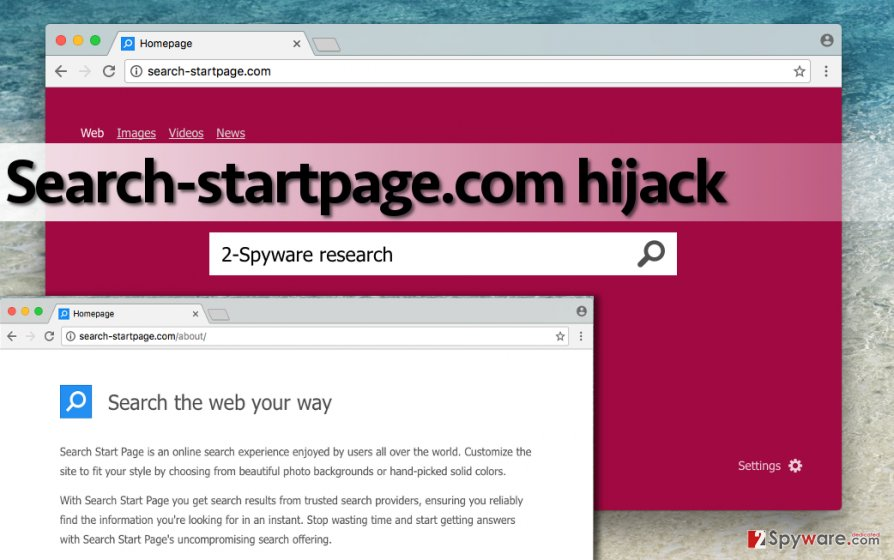 Image showing Search-startpage.com virus