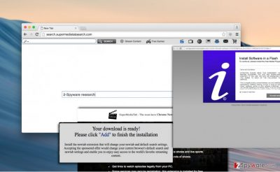 Search.supermediatabsearch.com redirect virus