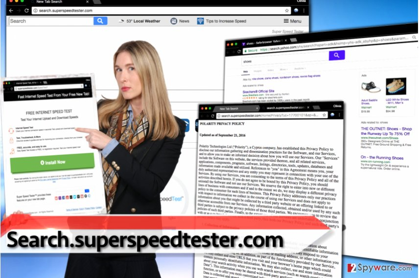 Search.superspeedtester.com browser hijacker