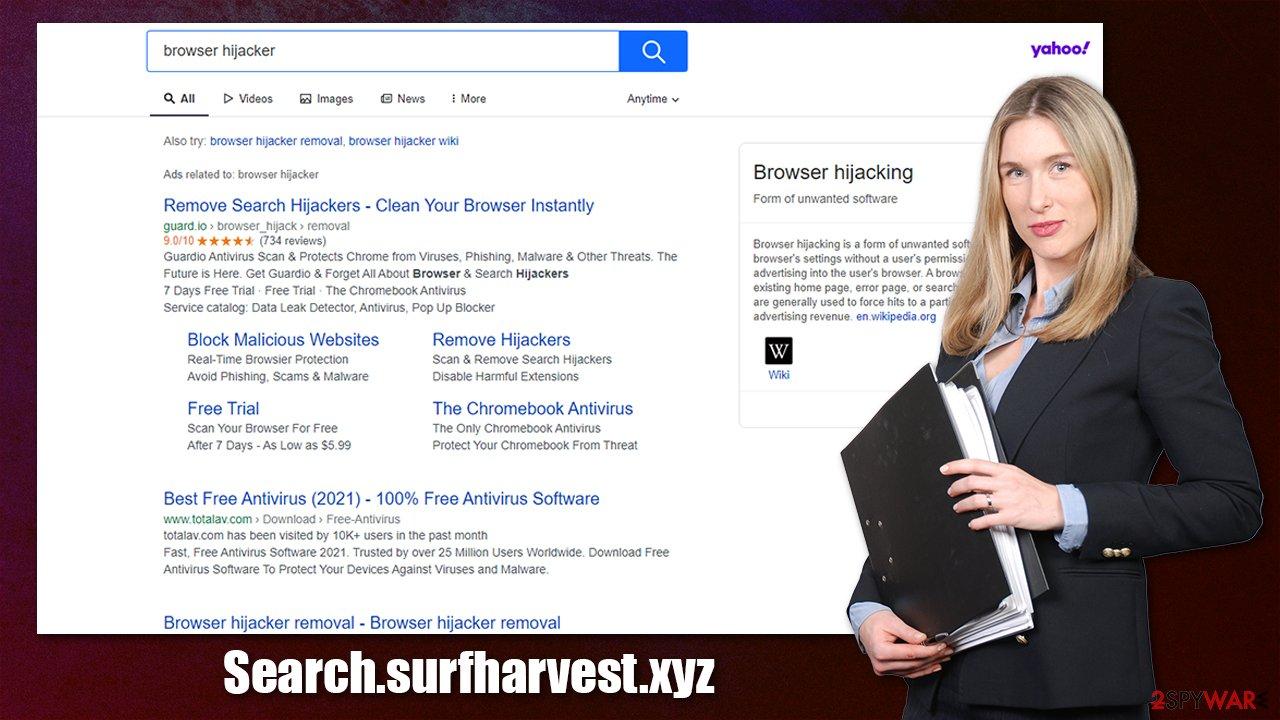 Search.surfharvest.xyz virus