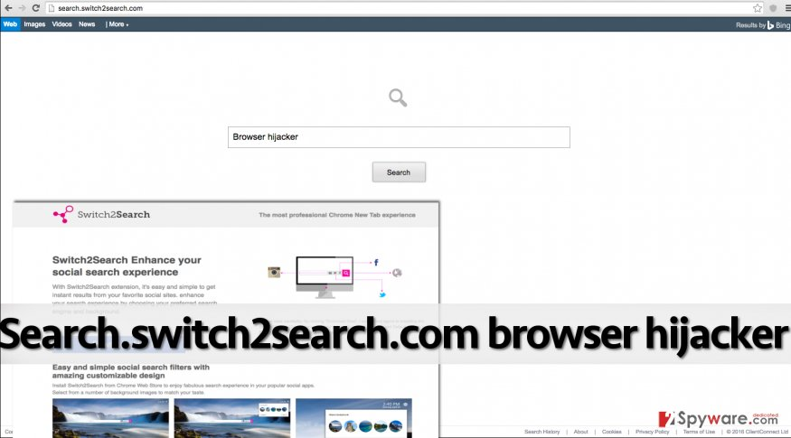 Search.switch2search.com PUP urges the user to use a shady search engine