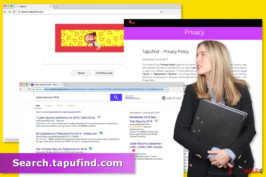 Illustration of Search.tapufind.com virus