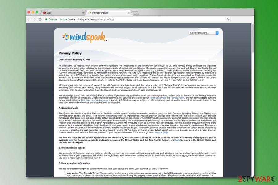 Search.tb.ask.com Privacy Policy