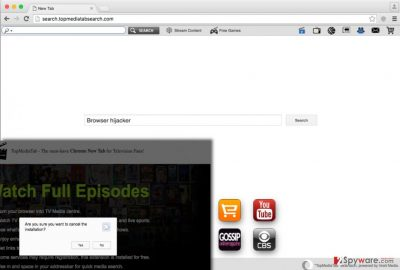 Search.topmediatabsearch.com redirect virus