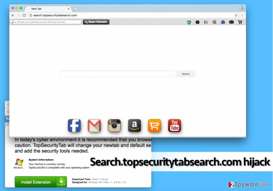 Search.topsecuritytabsearch.com redirect virus