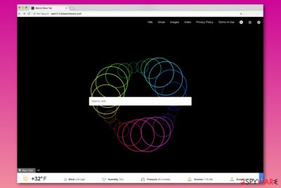 Screenshot of Search.triplespiralwave.com homepage