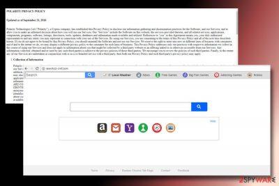 A printscreen of Search.tz-cmf.com virus