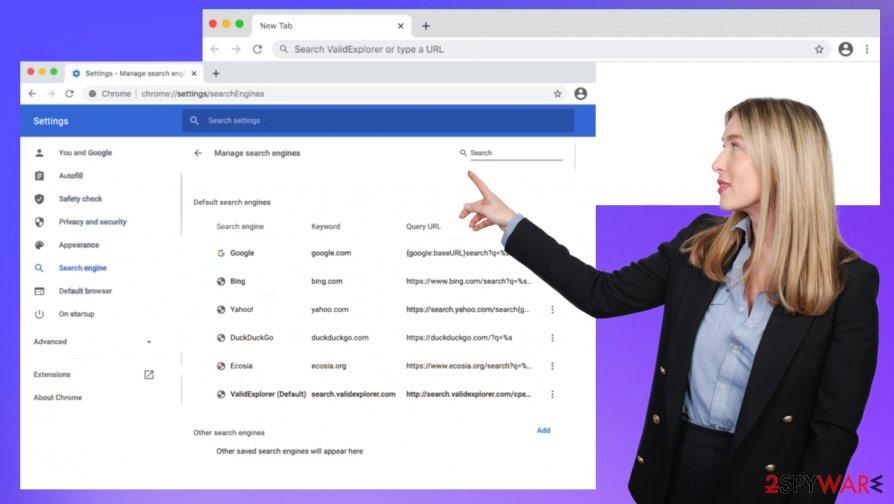 Search.validexplorer.com virus