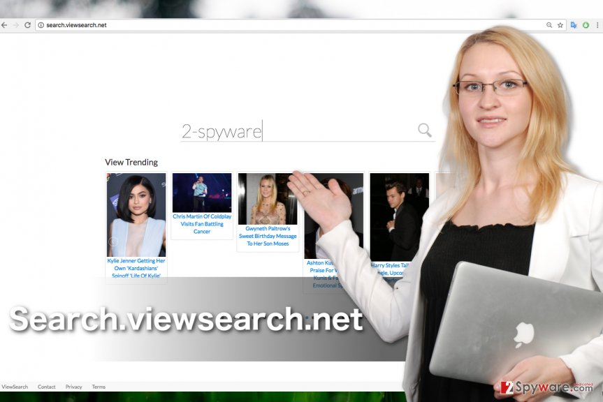 A screenshot of the Search.viewsearch.net browser hijacker virus
