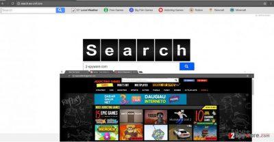 The screenshot of search.we-cmf.com